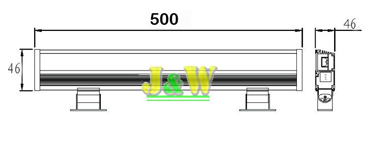 2pcs/lot 12W LED wall washer lights,RGB / White Led outdoor light,AC85~265V,IP65 waterproof 500*50*60MM,1100LM<br><br>Aliexpress