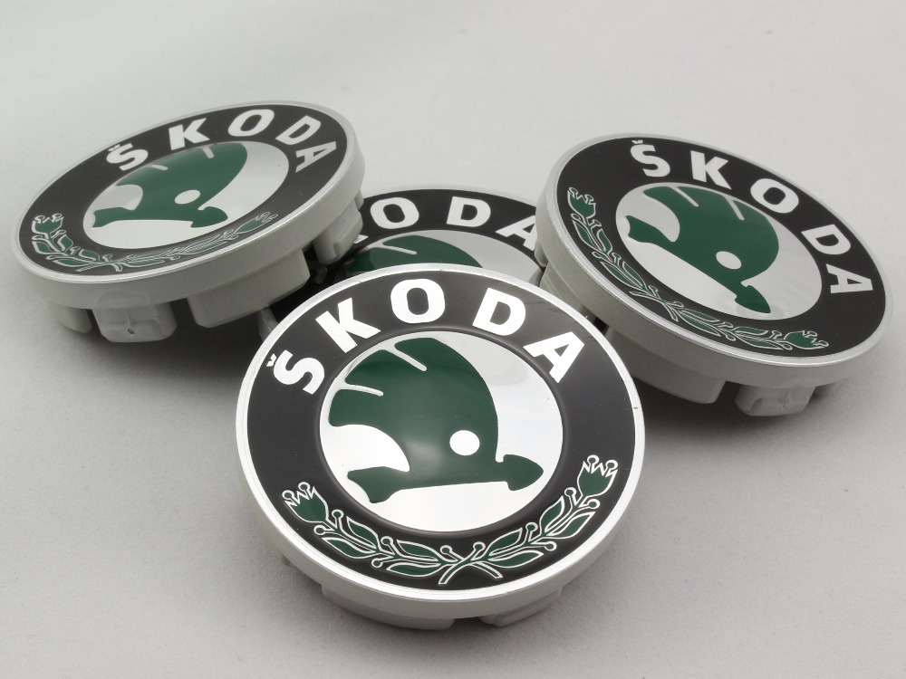 4pcs Original Parts Skoda Octavia Logo Alloy Wheel Rim Center Caps Hub Cap 1ZD 601 151 A(China (Mainland))