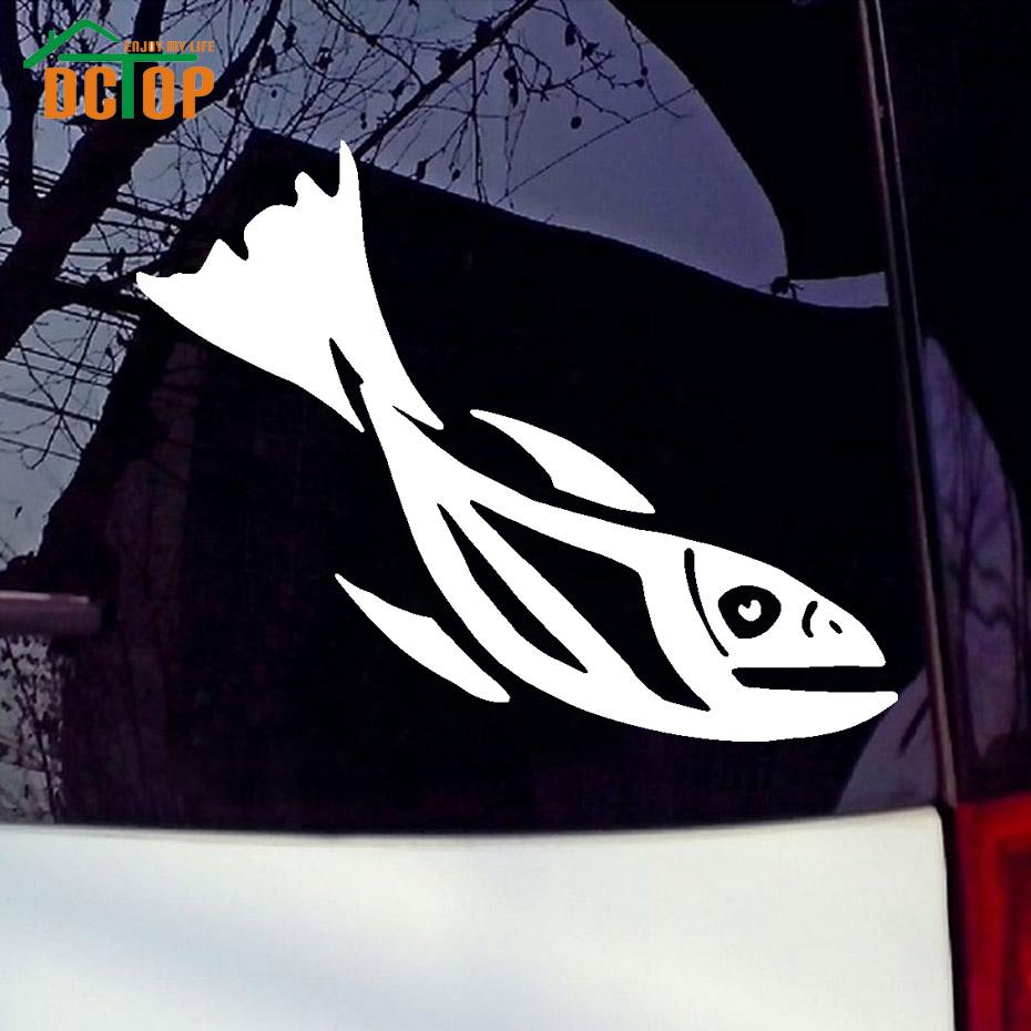 Simple car sticker design - Artistic Fish Decals Animal Styling Car Sticker Waterproof Vinyl Truck Decor Accessories Creative Design China