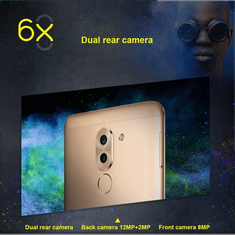Original Huawei Honor 6X 4G LTE Cell Phone 4GB RAM 32GB ROM Hisilicon Kirin 655 Octa Core 5.5 inch Dual Rear Camera Smartphone