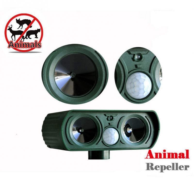 Newest Outdoor Use Animal Repeller Cat Dog Pest Repeller Solar Power Ultra Sonic Scarer Frighten Animal Repellent(China (Mainland))
