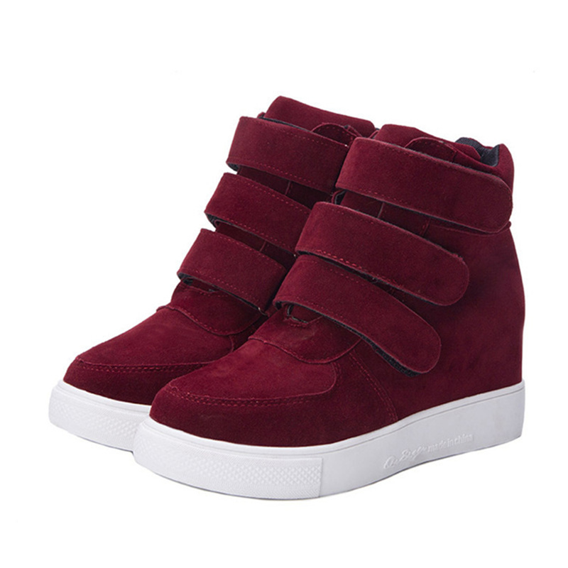 Fashion 2015 Women Shoes Faux Suede High Top Women Ankle Boots Comfort Casual Ladies Boots Shoes Flats <br><br>Aliexpress