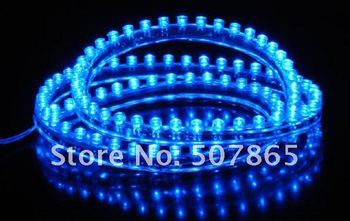 Free Shipping Blue Flexible Waterproof 48cm LED Car strips lights waterproof high quality