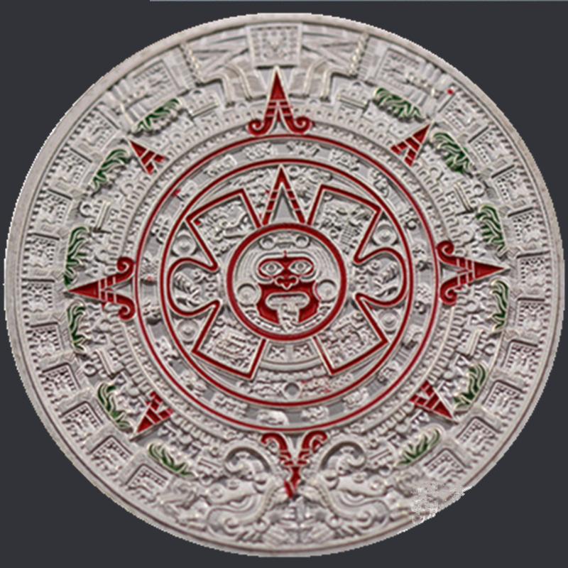 Rare 1oz 2012 Mayan Calendar Aztec Souvenir Coin Antique