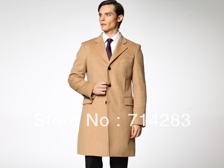 Mens Camel Cashmere Coat Coat Nj