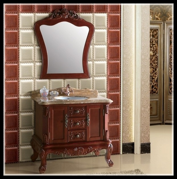 2014 New Design Factory Direct Sale Solid Wood Wholesale Bathroom Vanities Wholesale Bathroom
