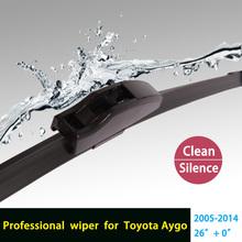 Car Wiper blades for Toyota Aygo (2005-2014), 26″, rubber bracketless Car accessory, single wiper freeshipping HY-002