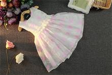 CX 2016 Summer bird pattern cotton baby dress sleeveless knee-length chiffon wedding princess bow gwon frock vestido - HOT HOUSE store