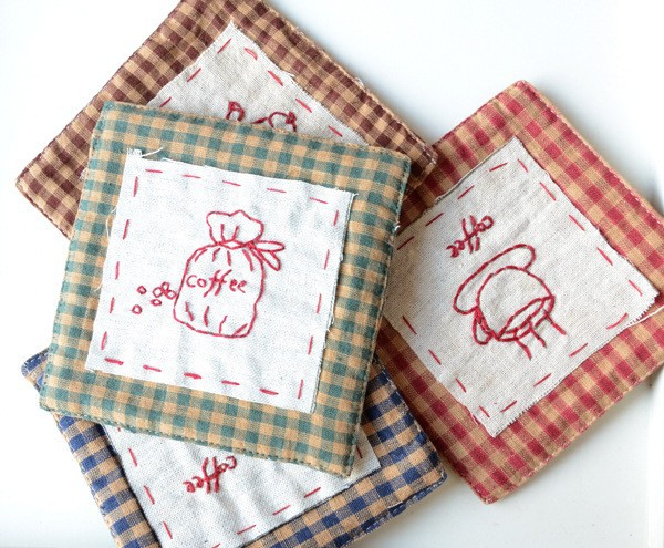 Buy Zakka Fabric Coasters Creative