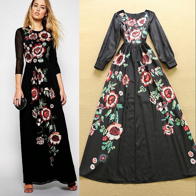 style long dress designs
