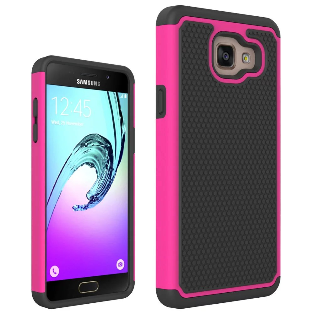 New 2 in 1 Hybird Shockproof Protection PC Plastic Hard TPU Silicone Rubber Soft Football Case For Samsung Galaxy A5 2016 A510(China (Mainland))