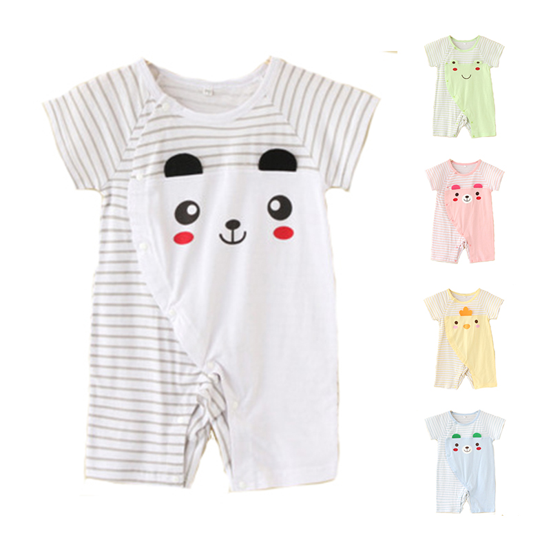 Toddle Baby's Romper Body Suits Clothes Cotton Short Sleeve 3 size Cartoon Newborn Baby Unisex Jumpsuit Romper Clothes For 0-2T(China (Mainland))