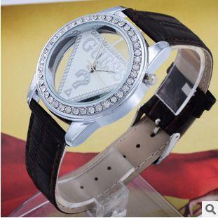 2015 new designer luxury brand leather strap women watches women dress quartz leather wristwatch lady bracelet table(China (Mainland))