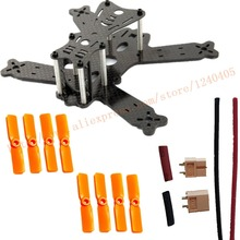 Mini 130mm Carbon Fiber Quadcopter Frame Kits&4Pair Orange 3030 Propeller&XT60&14AWG silicon wire&Heat Shrink For FPV Quadcopter