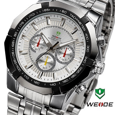 3 Colors Weide watches Men Military Quartz Sports Diver Watch Full Steel Fashion Army Wristwatch 2015