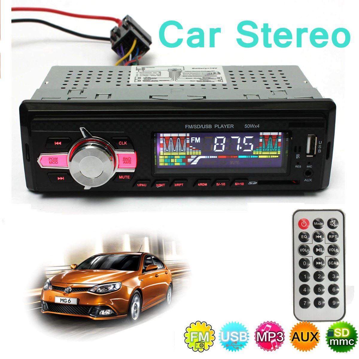 Car Auto Stereo LCD Audio Headunit Radio In Dash 12V DC SD FM USB MP3 Player AUX(China (Mainland))