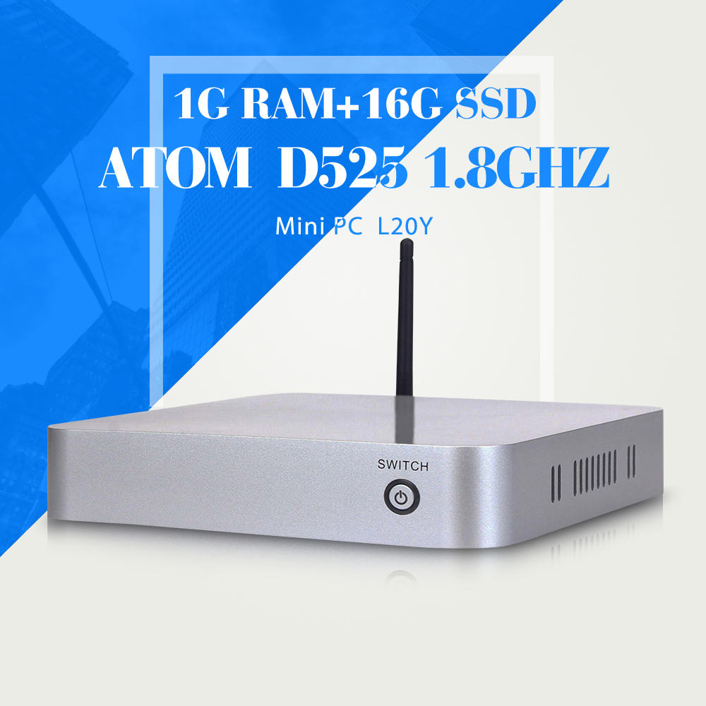 D525 1G RAM+16G SSD+WIFI share terminal home computer windos xp multiuser mini pc Industrial panel PC support hd video(China (Mainland))