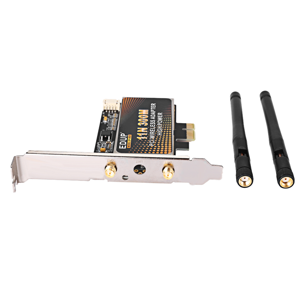 EDUP EP - 9601 300Mbps 11N PCIE Wireless Adapter Network Card with 2 x 2dBi Antenna for Desktop PC(China (Mainland))
