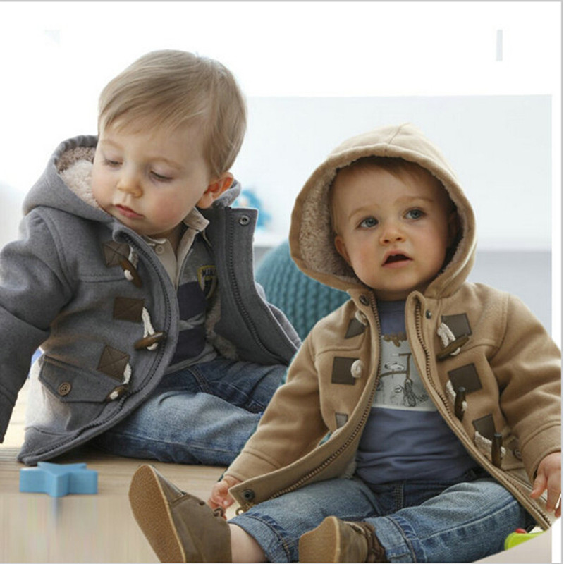 2016 New Baby Boys Jacket Boys Clothes Winter Outerwear Cotton Thick Kids Clothes Children Clothing With Hooded Overcoats Baby<br><br>Aliexpress