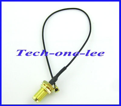 Mini PCI U.FL to RP SMA connector Antenna WiFi Pigtail Cable IPX to RP-SMA Jack Male Pin Adapter Extension Cord Free Shipping(China (Mainland))