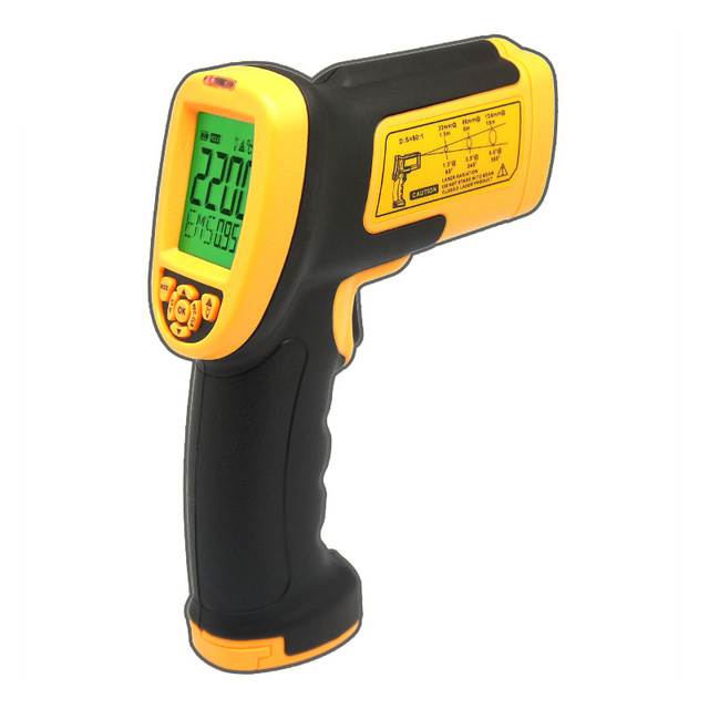 AS892 high temperature Non-contact laser IR infrared thermometer temperature measurement point Gun 200-2200C(China (Mainland))