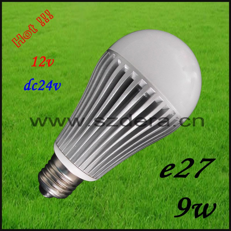 Free Shipping 30pcs/lot LED Bulb ,LED lamp, led lights,110VAC/220VAC 3W 5W 7W 9W E27 white,CE&ROHS listed12VDC for solar(China (Mainland))
