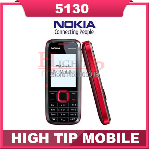 Russian keyboard support Nokia 5130 original unlocked qual band mobile phone with multi-languages Free shipping Refurbished(China (Mainland))
