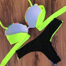 New Arrival Suittop 2015 Bikini Set bikini push up Padded Bra Biquini Swimsuit Bathing Suit Swimwear