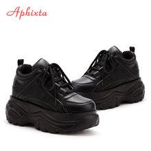 Aphixta Höhe Zunehmende Schuhe Frau Winter Stiefel Frauen Plattform Turnschuhe 2019 Mode Kampf Stiefel Frauen Dicke Schuhe(China)
