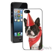 Party Boston Terrier Protector back skins mobile cellphone cases for iphone 4/4s 5/5s 5c SE 6/6s plus ipod touch 4/5/6