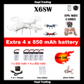 X6sw WIFI Toys Camera rc helicopter rc drone fpv quadcopter gopro professional drones with camera VS