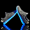 2016 New Fashion Luminous Shoes Unisex Led Light Shoe Men Women Fashion USB Rechargeable Glow for