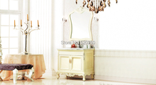 ivory and hand paint silver oak, volakas white marble cabinet and mirror, Bathroom Vanities(China (Mainland))