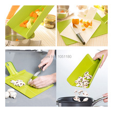 new hot Outdoor Picnic folding cutting board eco-friendly Plastic Travel Portable chopping block Fruit cut plate free shipping(China (Mainland))