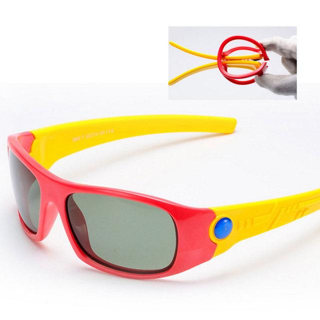 Сверхлегкие Дети Солнцезащитные Очки Поляризованные 2016 Детей На Открытом Воздухе Goggle Защитные Очки Солнцезащитные UV400 Гибкая Резиновая Óculos Infantil 808