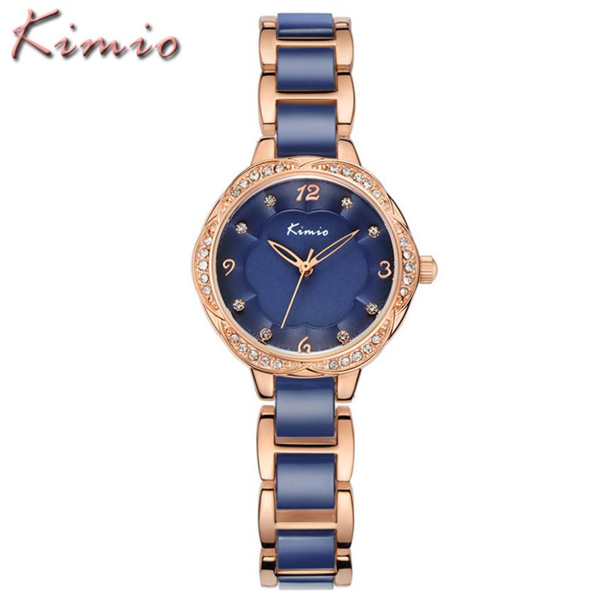 Relojes Mujer 2016 Marcas Lujo KIMIO Ladies Watches Top Brand Luxury Women Dress Ceramic Bracelet Quartz Watch Relogio Feminino(China (Mainland))