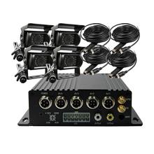 Free Shipping 4 CH 256G SD 3G GPS Track Car DVR H.264 I/O PC / Phone View Video Recorder + IR SONY 600TVL Rear View Camera Kit(China (Mainland))