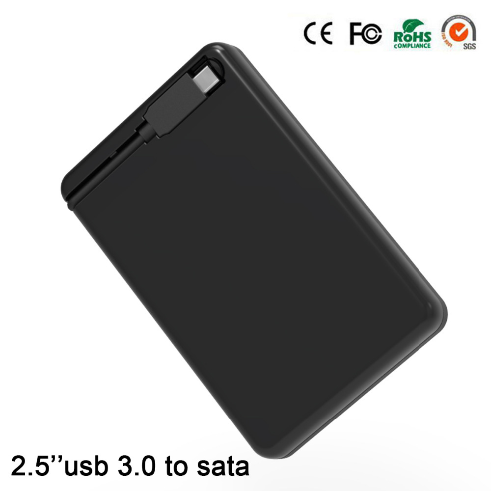 Aluminum hdd sata 2.5 disco duro externo usb hdd adapter 1Tb sata hdd caddy hdd case usb 3.0 tool free box for the hard disk(China (Mainland))