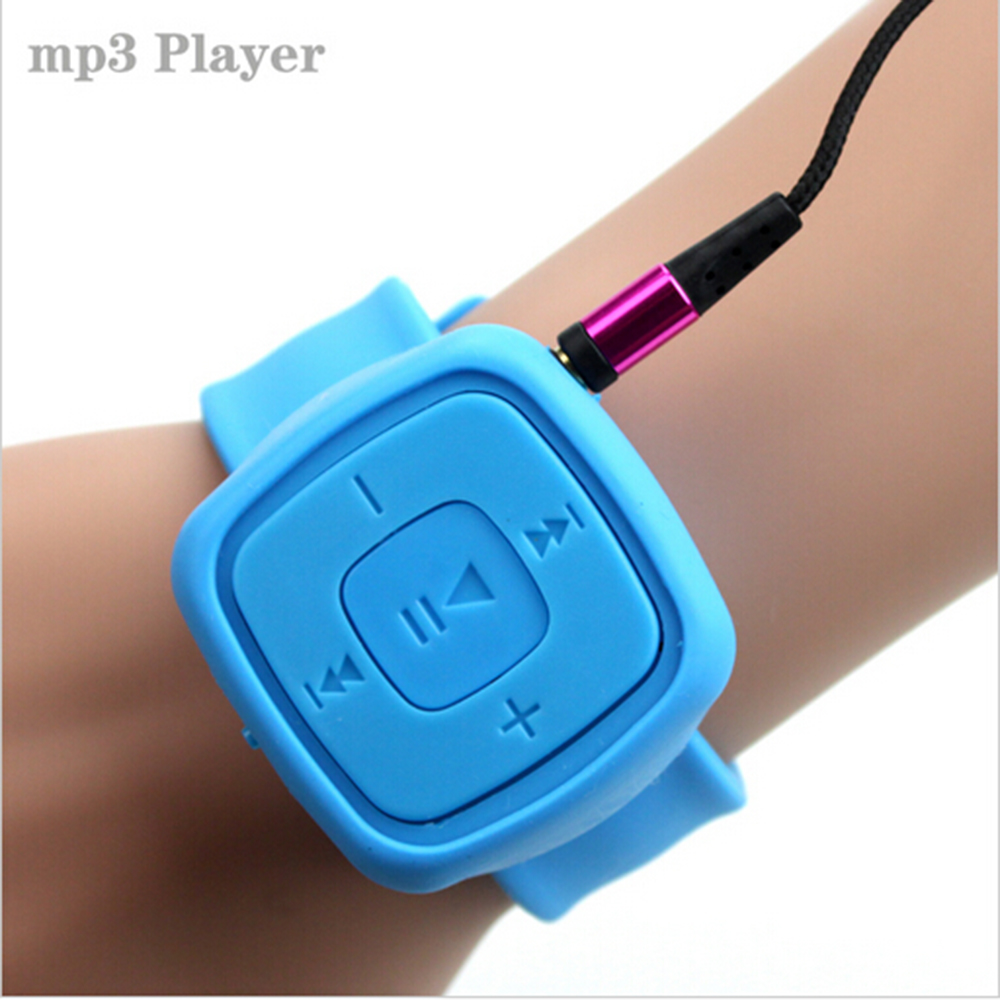Portable Sport Mini Wrist Watch Mp3 Mp 3 Electronic Music Player Bracelet Support Micro SD USB Flash Dish Mp3-player Musicas(China (Mainland))