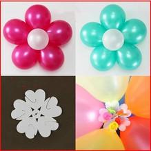 Envío gratis 10 unids/lote flor en forma de globo Clip Latex Balloon sellado Clips globo accesorios