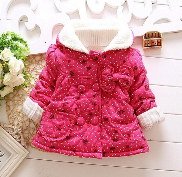 Winter Girls Coat Childrens Thicken Hoodies Outwear Baby girl Plush Coats Children Tops Kids clothing WD1389<br><br>Aliexpress