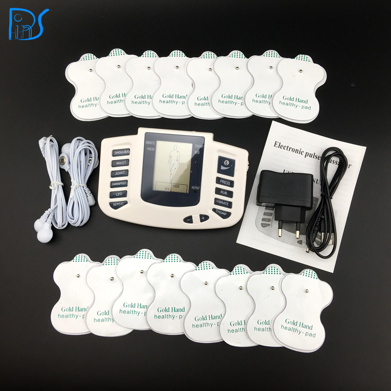 Electronic Body Slimming Pulse Massage for Muscle Relax Pain Relief Stimulator Massageador Tens Acupuncture Therapy Machine(China (Mainland))