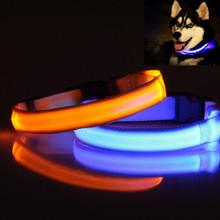 Pet Ошейник LED Полиэстер Ночь Безопасности Собаки Кошки Воротник Цвет Светящиеся В Темноте Световой, с CR2016 батареи 160310-12