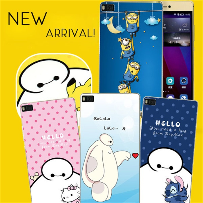 Huawei Ascend P8 Lite Case 3D Color Painting TPU Phone Cover Fundas Baymax + - GOINSIE 3C Store store