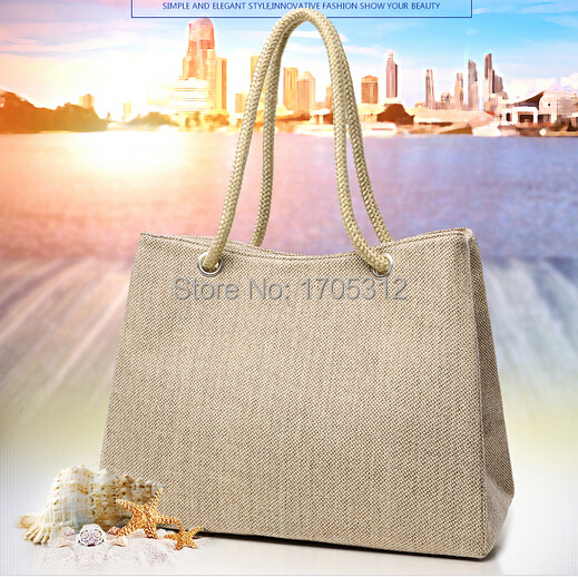 Summer style Beach Bag capazos de playa jute beach baskets bags for women messenger bags best handbag brand famous tote bag new(China (Mainland))