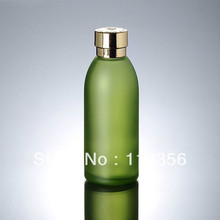 120ML  green glass bottle with golden lid, lotion bottle