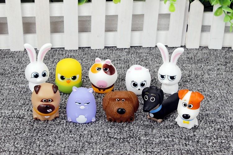 2016 hot 10pcs/lot The Secret Life of Pets Plush cartoon toys for kids gift Snowball Gidget Mel Max Chloe Buddy Stuffed Doll