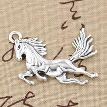 Buy 5pcs Charms running horse 51*32mm Antique pendant fit,Vintage Tibetan Silver,DIY bracelet necklace for $1.92 in AliExpress store
