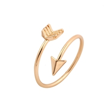 10Pcs/lot 2016 New Fashion Wholesale Gold Plated Brass Small Arrow Rings for Women Simple Rings Free Shipping JZ008(China (Mainland))