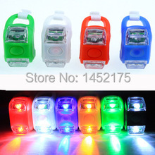 Buy 2pcs Mini Waterproof Silicone mountain Bike Light Cycling Beetle Warning lights Front Rear Tail Lamp Bicycle accessories for $1.98 in AliExpress store